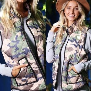 🔥Camo Quilted Vest w/Zipper & Pockets 🔥
